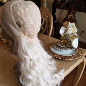 Accessories - White Wavy Blonde Lacefront Wig